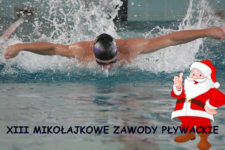 Ilustracja do informacji: XIII Mikołajkowe Zawody Pływackie