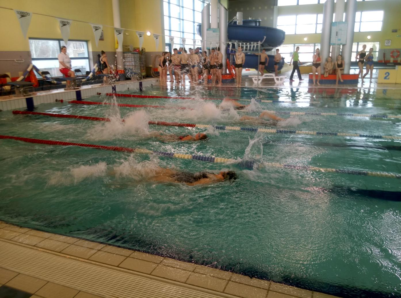 Ilustracja do informacji: Mistrzostwa Żar w pływaniu Szkół Gimnazjalnych